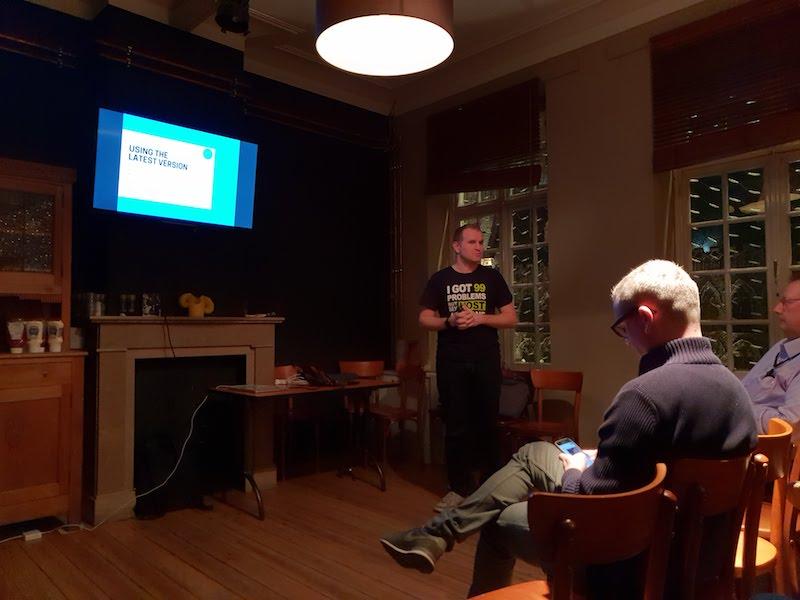 Talk Brecht Ryckaert op Meetup Ieper