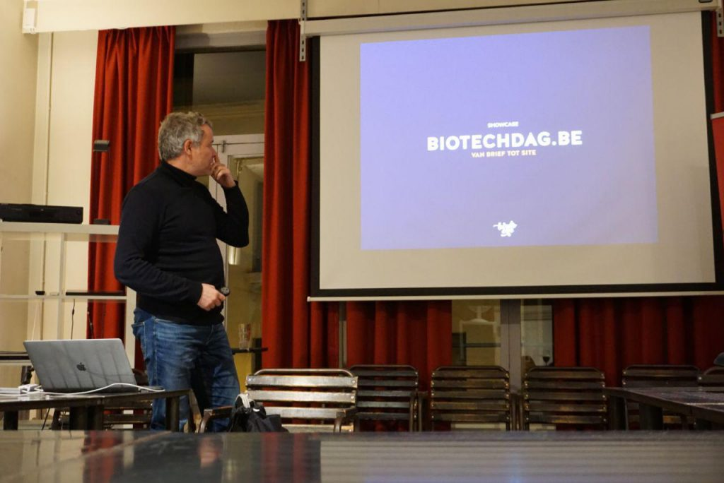 Marc Nuijten showcasing biotechdag.be